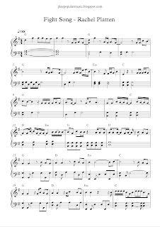 Fight Song Rachel Platten Fight Song Rachel Piano Sheet Music