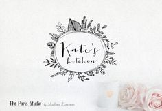 Bespoke Logo Design Hand Drawn Logo Design Blog Logo Boutique Logo Business Logo Watercolor Logo Vintage Logo Photography Branding Monogram  --------------------------------------------  Hello & Bonjour!  Thank you for stopping by! As of April 2016 I no longer offer a flat-rate custom logo design package on Etsy - please convo me for a quote if you like to work with me on a custom logo design project. For my work portfolio please visit my website - MadameLevasseur.com or TheParisStudio.co...