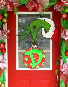 My Grinch hand I made...my favorite! MADE BY TENA DYAL FROM BAXLEY GA!!