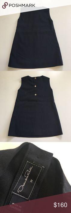 Oscars de LA Renta Dress Little Girl dress. Inner lining has a mark on it. Pls see pic. Navy blue. Oscar de la Renta Dresses