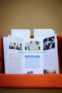 Cute wedding programs for Schoolhouse themed wedding from Bellalu Photography | junebugweddings.com
