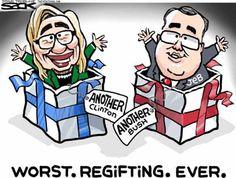 Political Cartoons of the Week: Clinton/Bush 2