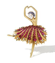 A jewelled ballerina by Van Cleef & Arpels, New York, circa 1945