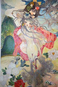 "Aya Takano ""To Lose is to Gain"" at Perrotin Gallery, Paris - purple ART Pretty Art, Cute Art, Japanese Contemporary Art, Aya Takano, Art Drawings Beautiful, Funky Art, Japanese Artists, Art And Illustration, Sketchbook Inspiration"
