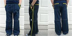 detailed pants made from sweatshirt fabric.