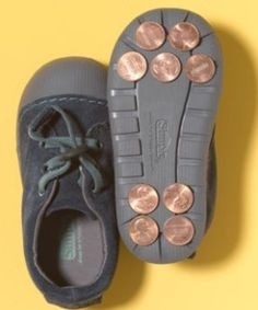 """Use pennies as tap shoes for a no commitment tap dance trial for your kiddos! Hey, I might even try it on a pair of my shoes. We can have """"tap dance"""" day! Kids will love it! Freetime Activities, Activities For Kids, Diy For Kids, Cool Kids, Crafts For Kids, New Uses, Kids Playing, Little Ones, Just In Case"""