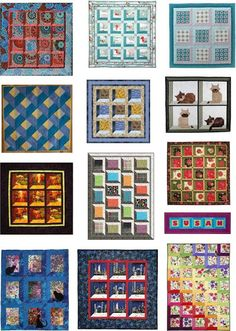 """Quilt Inspiration: Free Pattern Day: Attic Windows Quilts The Attic Windows;First published in1857, the pattern draws the eye into a """"shadow box"""" effect. Attic Windows are an excellent way to showcase special blocks or large prints. They can be constructed with mitered corners or - the easy way - with half-square triangles at the corners. Here are some free patterns and tutorials! Links provided for patterns. http://quiltinspiration.blogspot.com/2013/08/free-pattern-day-attic-windows-quilts.html"""
