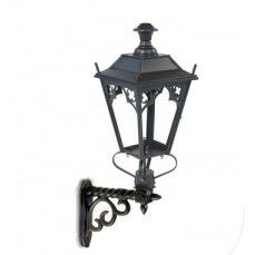 Gothic garden wall light on simple bracket