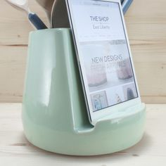 Stak Ceramics Kitchen Dock - love this, even if mint doesn't necessarily go with my kitchen