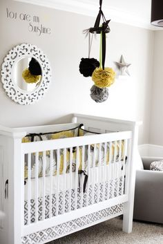 yellow & grey nursery