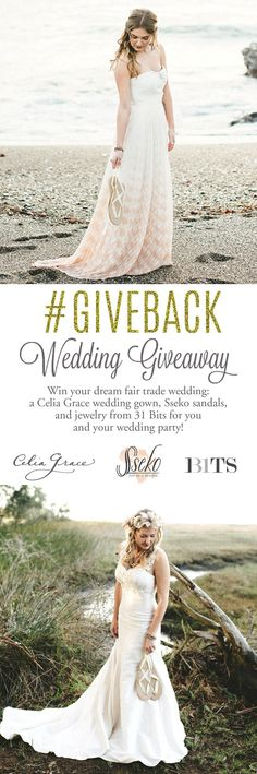 Ethical #Wedding Giveaway! Enter to win a silk dress from @celiagracedress, plus @31bits jewelry and @SsekoDesigns sandals for you and your bridal party!