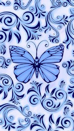 Cocoppa blue butterfly Flowery Wallpaper, Sunset Wallpaper, Butterfly Wallpaper, Cute Wallpaper Backgrounds, Cute Wallpapers, Locked Wallpaper, Cellphone Wallpaper, Iphone Wallpaper, Dragonfly Art