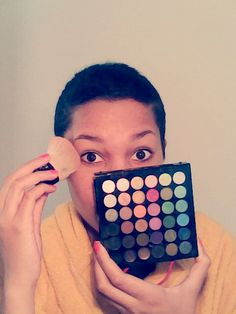Preparing myself for the photoshoot :-) :-) :-)