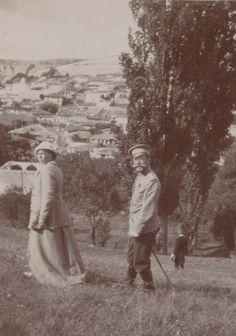 GD Olga and Nicholas out for a walk - Crimea.
