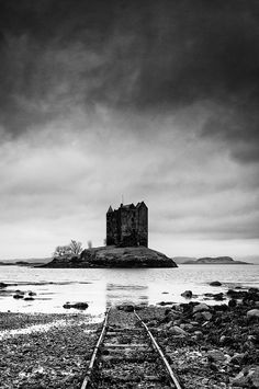 PRINT ONLY. 10 x 14 inches. Castle on the Loch: Scotland Landscape Photography. Fine Art Print.