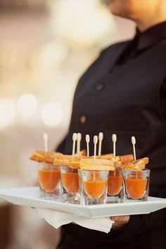 Grilled Cheese and Tomato Soup Hors D'oeuvres | Binaryflips Photography https://www.theknot.com/marketplace/binaryflips-photography-punta-gorda-fl-802130 | Studio 26 Productions | Choreographed Events - Maria Brady https://www.theknot.com/marketplace/choreographed-events-maria-brady-sarasota-fl-635150