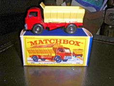 MATCHBOX LESNEY 70 FORD GRIT SPREADING TRUCK VNM W/ORIGINAL EARLY NEW MODEL BOX #Matchbox #Ford