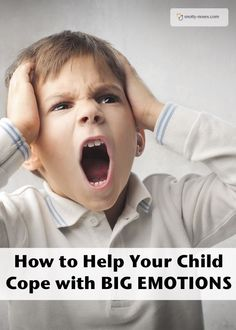 How to Teach Children to Cope with Big Emotions. It's so tough when your kids get angry and cross but it's a great opportunity to teach them how to control their emotions.