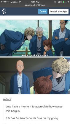 Oh Genos. Appreciate his sassiness  Creds: zeitara.tumblr