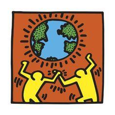 Giclee Print: Pop Shop by Keith Haring : Keith Haring Kids, Keith Haring Heart, Keith Haring Prints, Keith Haring Poster, Principles Of Art Unity, Boba Fett Tattoo, Graffiti, Haring Art, Pop Art Artists