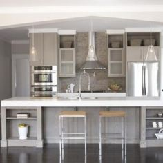 Having a Moment Blue Gray Kitchen Cabinets Blue gray kitchen