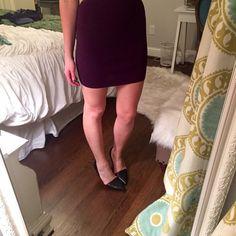 "Purple Bandage mini Skirt Max Studio purple bandage skirt. Length: 17 1/2""   65% Rayon, 35% Nylon Used but still in great condition!  Size: small Max Studio Skirts Mini"