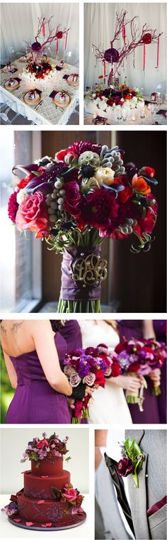Maroon accents in wedding decorations #maroon #wedding