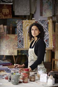 MELISSA WHITE's studio. White is a decorative painter based in Hastings who…