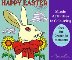 This colouring book has nine, amazing, original art works by Ramon Siverio. The Easter Bunny finds himself in all sorts of situations, giving us the most stunning pictures to colour. This is a fun way to practice letter names. Students match the note to its letter name by using the same colour. Some sheets are treble staff, some are bass.