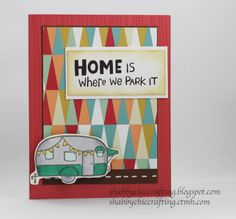 Free To Be Me papers and Camper Crazy stamp set