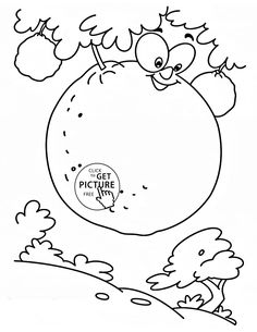 oranges on the tree fruit coloring page for kids fruits coloring pages printables free