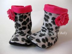 Baby girls boots black leopard shoes Leopard by allthingsforbaby, $35.00