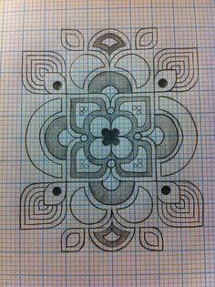 Original Graph Paper and Pencil Design.... with a dash of Art Nouveau