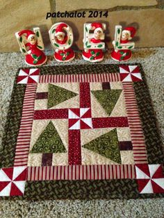 Patchalot More-- Trees on the Table free pattern at patchalotpatterns.com: