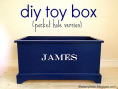 Get the FREE plans to build a customizable toy box!