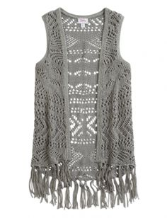 Shop Fringe Crochet Vest and other trendy girls {CATEGORY} {PARENT_CATEGORY} at Justice. Find the cutest girls {PARENT_CATEGORY} to make a statement today.