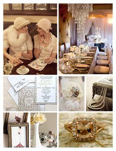 Old Hollywood Inspiration. Reminds me of my own wedding inspiration board