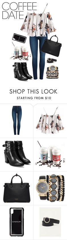 """Coffee Please"" by amberkipp on Polyvore featuring Pieces, Nasty Gal, Burberry, Jessica Carlyle, Givenchy, Torrid, casualoutfit and CoffeeDate"