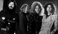 John Bonham, John Paul Jones, Robert Plant and Jimmy Page of Led Zeppelin