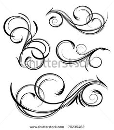 Find Design Elements stock images in HD and millions of other royalty-free stock photos, illustrations and vectors in the Shutterstock collection. Tattoo Lettering Fonts, Lettering Styles, Graffiti Lettering, Swirl Tattoo, Filigree Tattoo, Cursive Alphabet, Calligraphy Alphabet, Mago Tattoo, Gravure Metal