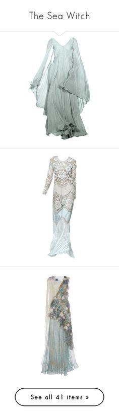 """""""The Sea Witch"""" by girlwithagun ❤ liked on Polyvore featuring dresses, gowns, long dress, medieval, long green evening dress, zac posen evening dresses, zac posen gowns, zac posen dresses, zac posen evening gowns and long dresses"""