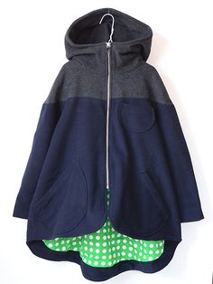 BOdeBO ボードボー ADEF coat カシミアウール混フーデットメルトンコート バイカラー【試着可能】 2014AW - 子供服キイロイキ輸入服BABY&KIDS&MOMMY