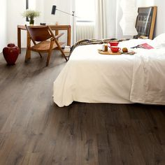 If you love elegance then you will be sure to fall in love with the stunning Quickstep Impressive Classic Oak Brown laminate flooring. The wood effect planks are designed with a realistic grain effect. The rich colour of the planks will add warmth and charm into your home or office. Enjoy the flooring for longer with a 25 year warranty, and in the bathroom take advantage of a 10 year water warranty*. Order your Quickstep Impressive Classic Oak Brown laminate flooring from ...