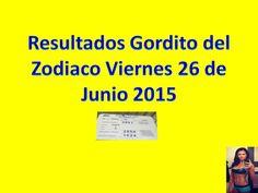 Resultados Gordito del Zodiaco Viernes 26 de Junio 2015 - Loteria Nacional de Panama