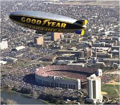 The Goodyear Blimp. Tyre and rubber company Goodyear built its first PR airship, the Pilgrim in 1925. The firm painted its name on the side of the balloon and began to tour sporting and entertainment events across the USA. In later years the company offered up their blimps to TV networks, free of charge, for use as a camera platform – which they did in exchange for brand mentions.
