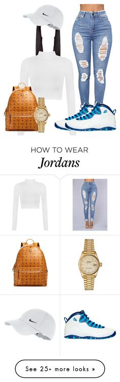 """Cha"" by officially-beautiful on Polyvore featuring WearAll, NIKE, MCM and Rolex"
