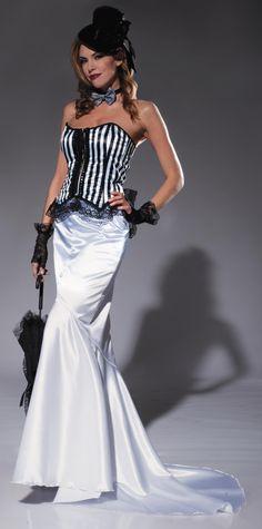 1a1d6f136d Dracula s Closet White Vintage Look Victorian Fantail Skirt Drácula