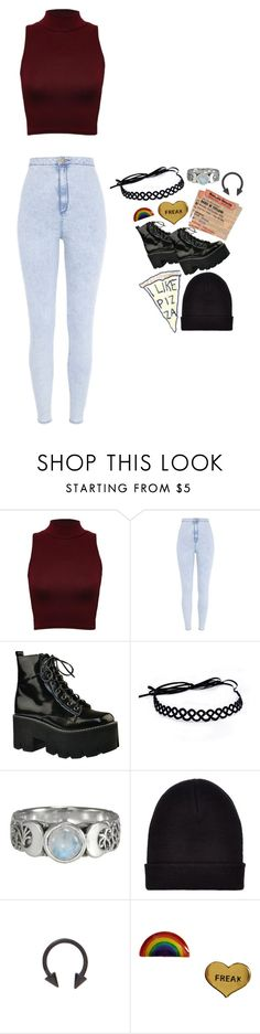 """""""in my city i'm a young god"""" by wtfchelsea ❤ liked on Polyvore featuring River Island, Jeffrey Campbell, New Look and Me & Zena"""