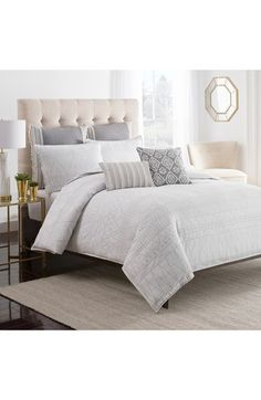 cupcakes and cashmere 'Moroccan Geo' Duvet Cover available at #Nordstrom