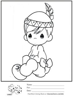 kids coloring page precious moments indian boy coloring sheet